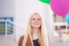 Frauenballone, Abschluss oben Lizenzfreie Stockfotos