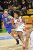 Frauenbasketball Euroleague Lizenzfreie Stockbilder