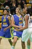 Frauenbasketball Euroleague Lizenzfreies Stockfoto