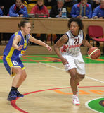 Frauenbasketball Euroleague Lizenzfreie Stockfotos