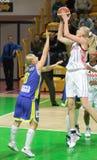 Frauenbasketball Euroleague Stockbilder