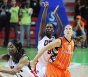 Frauenbasketball. UGMK gegen USA Stockfotos