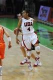 Frauenbasketball. UGMK gegen USA Lizenzfreie Stockfotos