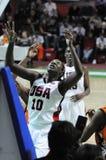Frauenbasketball. UGMK gegen USA Stockbild