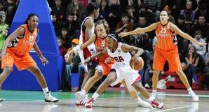 Frauenbasketball. UGMK gegen USA Lizenzfreie Stockbilder