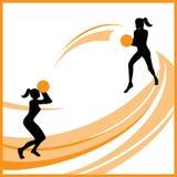 Frauenbasketballvektor Lizenzfreies Stockbild