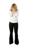 Frauenbedeckunggesicht lizenzfreies stockfoto