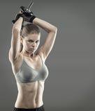 Frauenbodybuilder Stockfoto