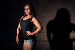 Frauenbodybuilder Stockfotografie