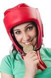 Frauenboxer Lizenzfreie Stockfotografie