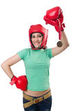 Frauenboxer Lizenzfreies Stockbild