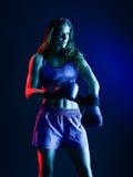 Frauenboxerverpacken lokalisiert Stockfotos