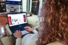 Frauencouchsurfen Stockfotografie