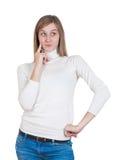 Frauendenken lizenzfreie stockfotografie