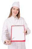 Frauendoktor getrennt Stockbilder