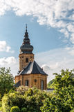 Frauendorf Chapel. Picture of a little Village Church in Bavaria, Germany. Shot in Oberfranken on a warm an cloudy June afternoon Royalty Free Stock Photos