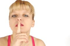 Fraueneinflußfinger Stockfoto
