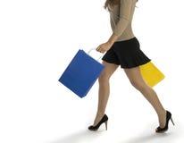 Fraueneinkaufen Lizenzfreies Stockbild