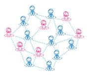 Frauenführer für Netz Stock Abbildung