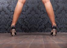 Frauenfahrwerkbeine Lizenzfreie Stockfotos
