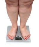 Frauenfahrwerkbeine mit Übergewicht Lizenzfreie Stockfotos