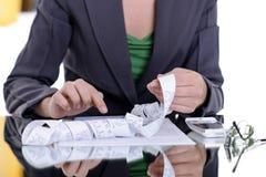 Frauenfinanzausgaben Stockfotografie