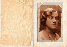 Frauenfoto der Weinlese. stockfotos