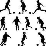 Frauenfußballspieler Stockbild