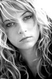 Frauengesichtsabschluß lizenzfreie stockfotografie