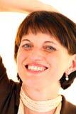 Frauengesichtszähne. lizenzfreies stockfoto
