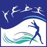 Frauengymnastikvektor Stockbild