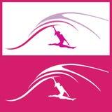 Frauengymnastikvektor Stockfoto