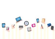 Frauenhände mit Büroartikel stock abbildung