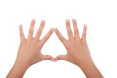 Frauenhände und -finger Stockfoto