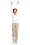 Frauenhängen getrennt Lizenzfreies Stockfoto