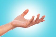 Frauenhand auf Himmel Lizenzfreie Stockfotos