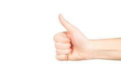 Frauenhand auf weißem Hintergrund Lizenzfreie Stockfotografie