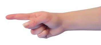 Frauenhand auf weißem Hintergrund, Vektor lizenzfreie abbildung