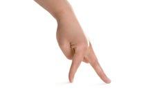 Frauenhand getrennt auf weißem Hintergrund Lizenzfreies Stockbild