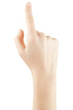 Frauenhand oben angehoben Lizenzfreies Stockfoto