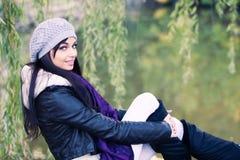 Frauenherbstportrait Lizenzfreies Stockfoto