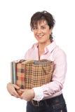 Frauenholding-Einkaufenbeutel stockfoto