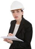 Fraueningenieur. Stockfoto