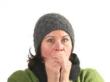 Frauenkälte Lizenzfreies Stockfoto