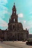 Frauenkirch (église de notre Madame) Dresde Images libres de droits
