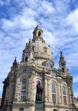 Frauenkirche在德累斯顿 免版税库存照片