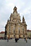 Frauenkirche在德累斯顿 免版税图库摄影