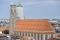 Frauenkirche在慕尼黑,巴伐利亚,德国 库存图片