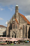 Frauenkirche在纽伦堡 免版税库存图片