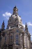 Frauenkirche教会,德累斯顿 免版税库存图片